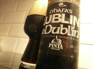 Pinta O'Hara's Lublin To Dublin (2014 Edition: Robust Oatmeal Stout)